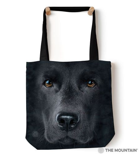 The Mountain® Black Lab Face Tote Bag